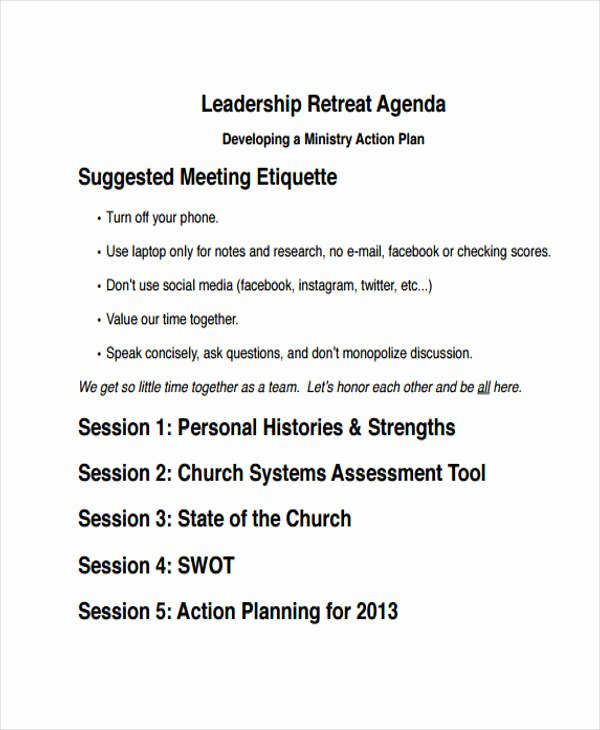 Retreat Itinerary Template Unique 10 Retreat Agenda Templates Free Word Pdf format