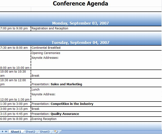 Retreat Schedule Template Best Of Agenda Template Category Page 7 Efoza