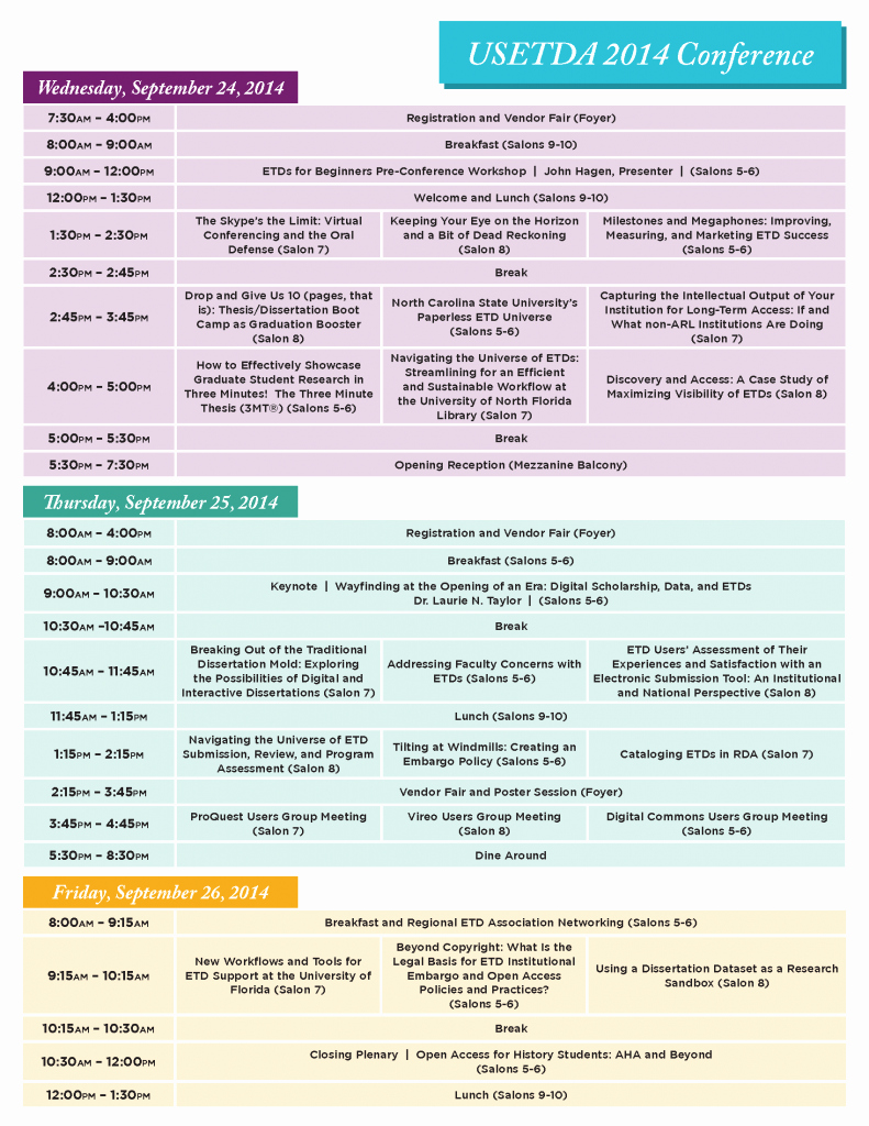 Retreat Schedule Template Elegant Usetda Usetda 2014