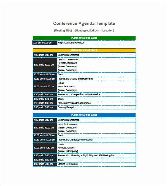 Retreat Schedule Template Fresh 8 Conference Agenda Templates – Free Sample Example