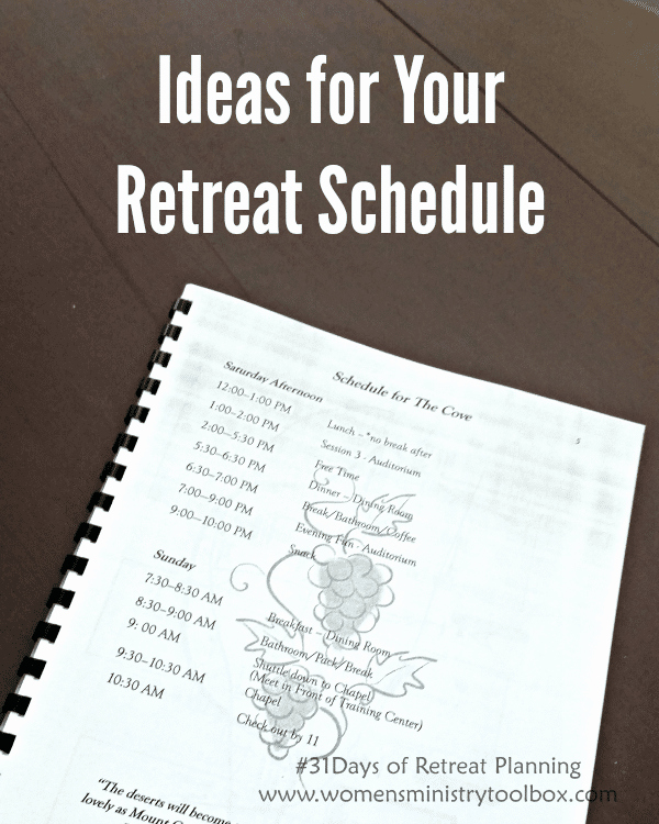 Retreat Schedule Template Lovely Day 12 Ideas for Your Retreat Schedule Women S