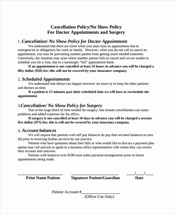 Return Policy Template Word Best Of 9 Cancellation Policy Templates Pdf