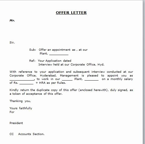 Return Policy Template Word Lovely Simple Appointment Letter format Best Template Collection