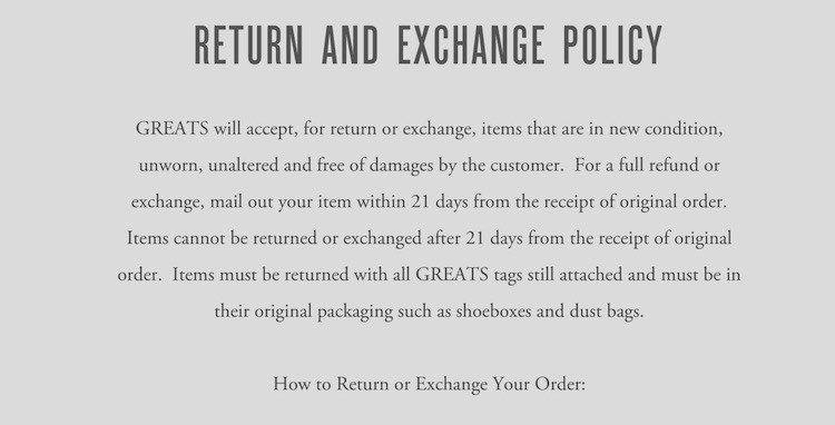 Return Policy Template Word Unique Sample Return Policy for E Merce Stores Termsfeed