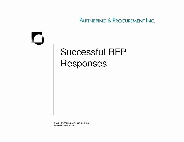 Rfp Proposal Example Beautiful Successful Rfp Responses