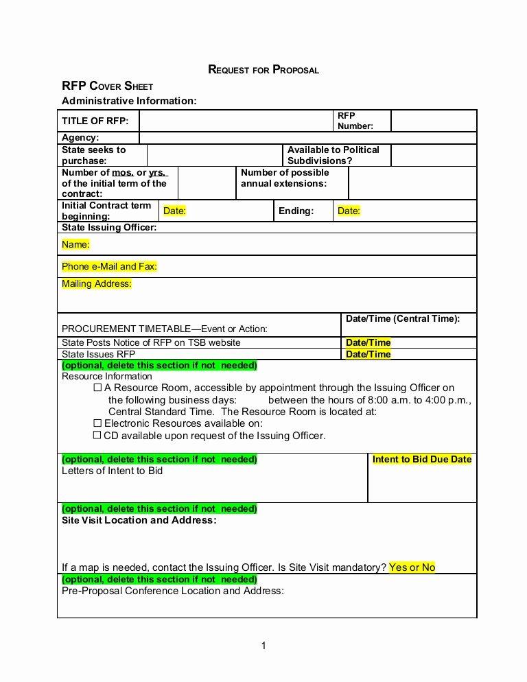 Rfp Proposal Example Elegant Rfp Template Word Document