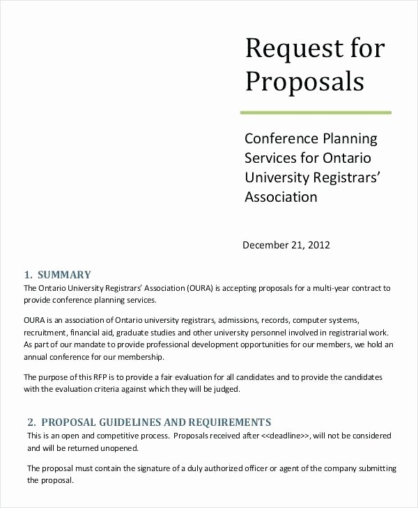 Rfp Proposal Example Inspirational Build and A Digital Marketing Rfp Request for