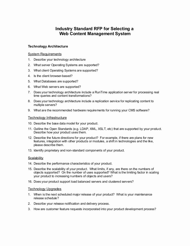 Rfp Proposal Example New Click Here to the Sample Content Management Rfp