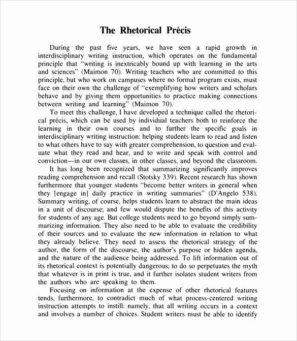 Rhetorical Precis Template Avid Inspirational 19 Of Rhetorical Precis Template Avid Part