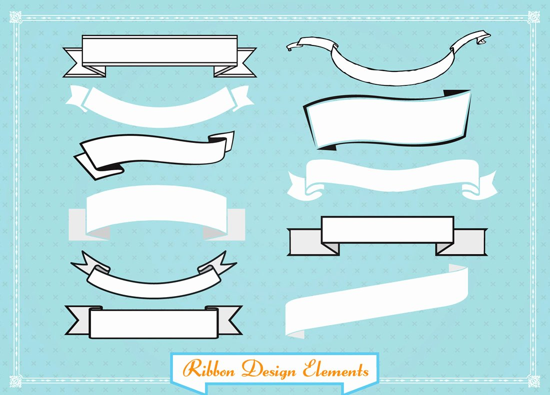 Ribbon Banner Template Awesome Ribbon Banner Template Clipart Best