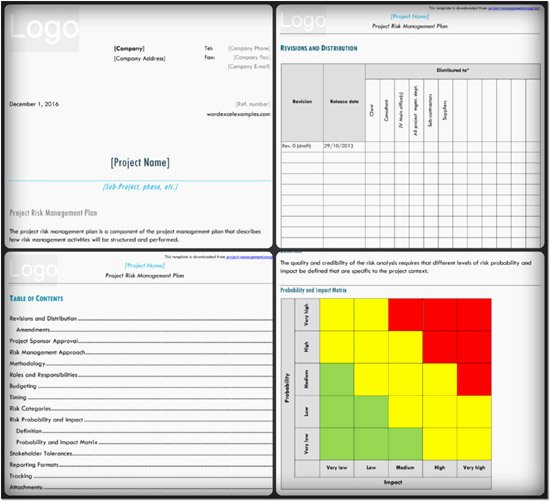 Risk Management Plan Template Doc Inspirational Risk Management Plan Template – 3 Examples In Pdf Word