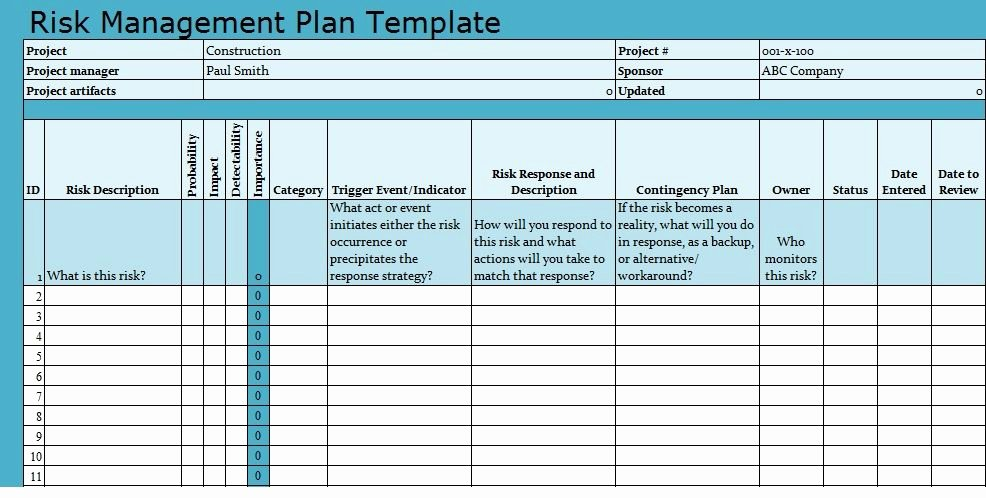 Risk Management Strategy Template Best Of Risk Management Plan Template Download