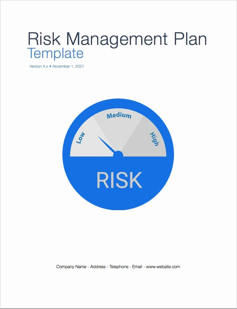 Risk Management Strategy Template Fresh Risk Management Plan Template Apple Iwork Pages Numbers