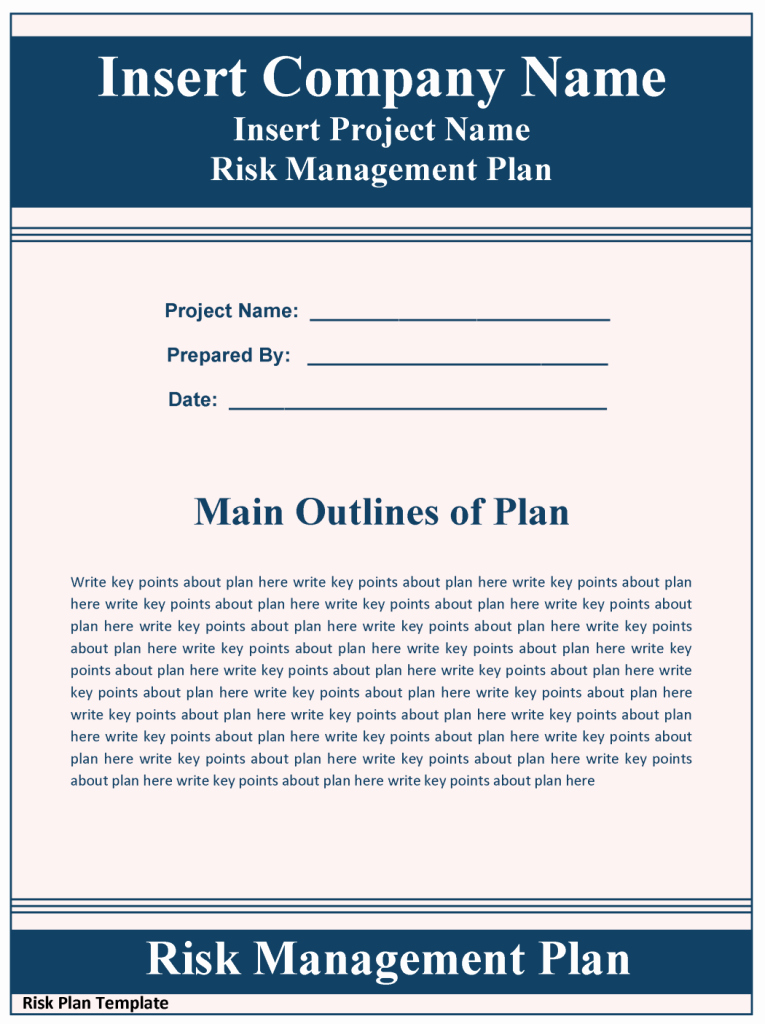 Risk Management Strategy Template Luxury Sample Risk Management Plan Template