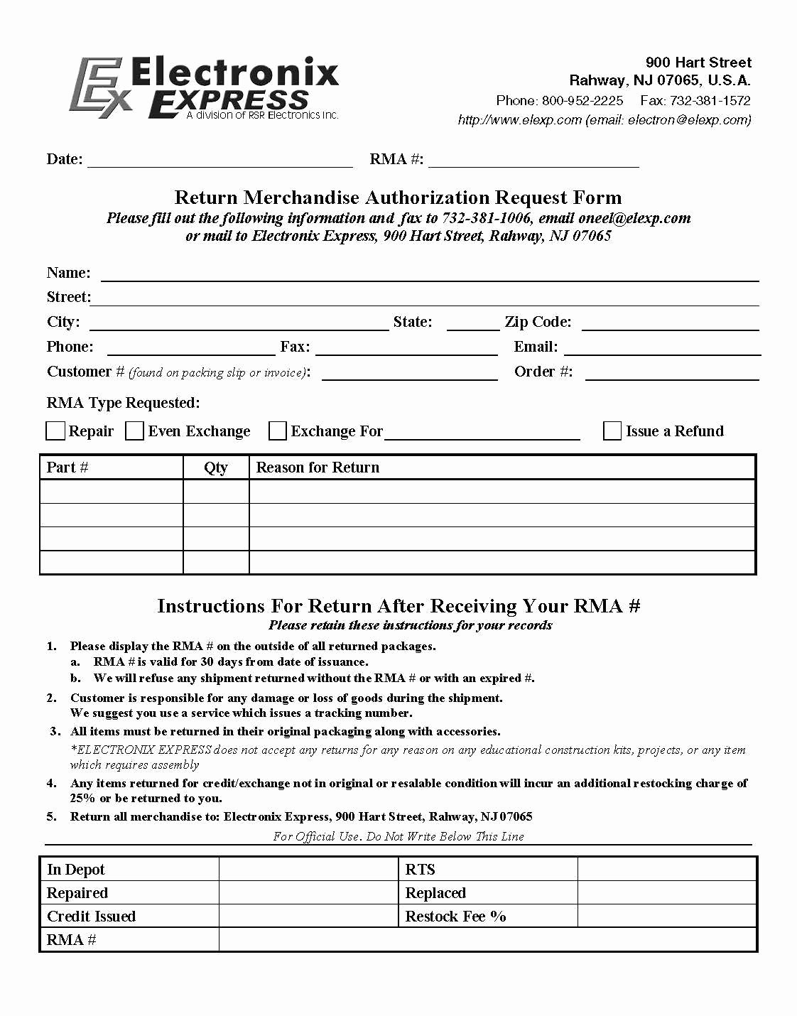 Rma form Template Beautiful Rma form Template 2018