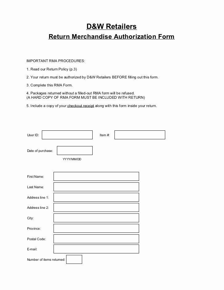 Rma form Template Lovely Rma form Template Hashtag Bg