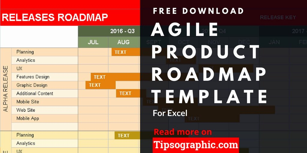 Roadmap Template Excel Free Download Awesome Agile Product Roadmap Template for Excel Free Download