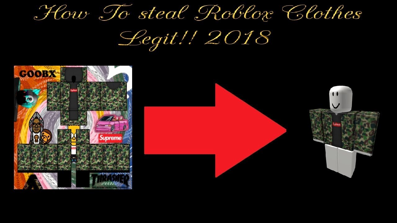 Roblox Clothing Stealer Luxury [2018] How to Steal Clothes On Roblox Legit Method