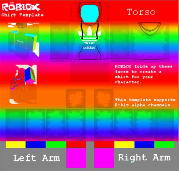 Roblox Shirt Template Size Fresh Rainbow Adidas Hoo Shirt Template Rbxleaks