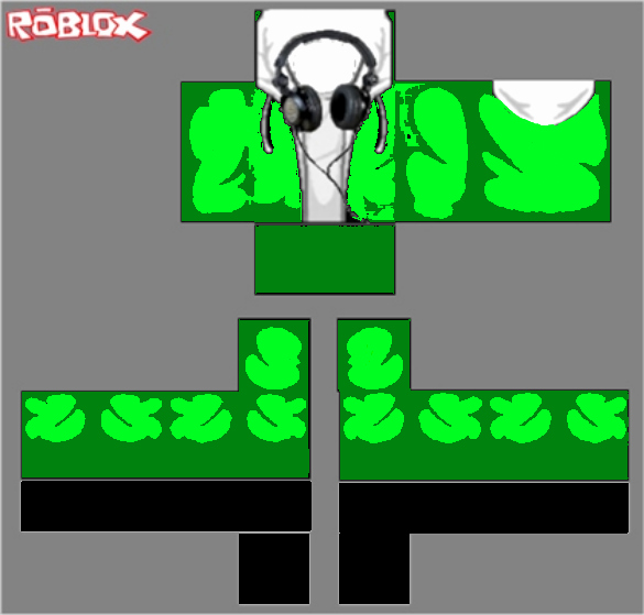 Roblox Shirt Template Size New Green Hoo with Headphones by Mechavaldez On Deviantart