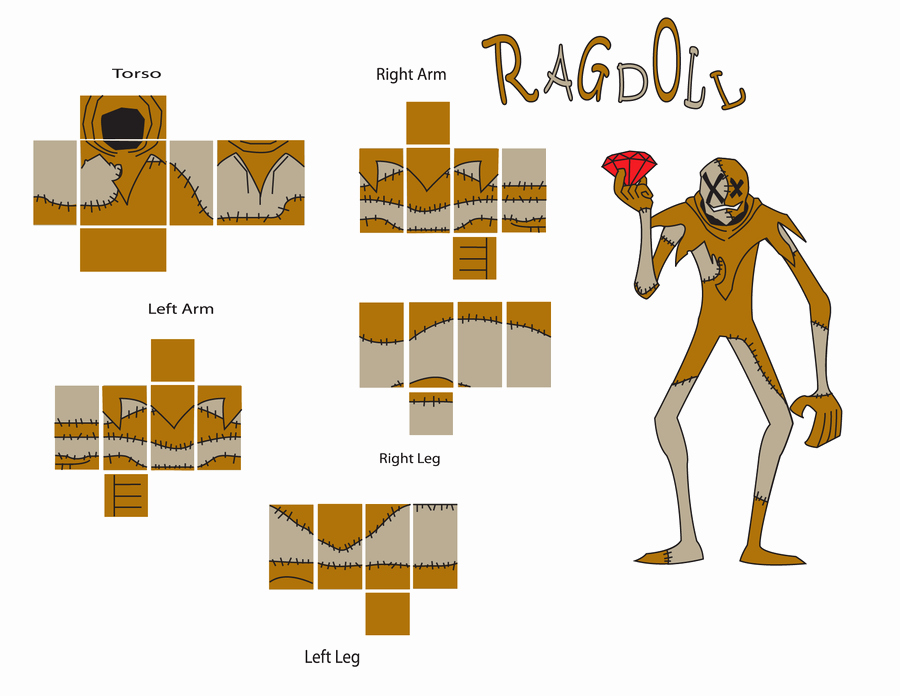 Roblox Shirt Template Size New Ragdoll Roblox Template by Blockwave On Deviantart
