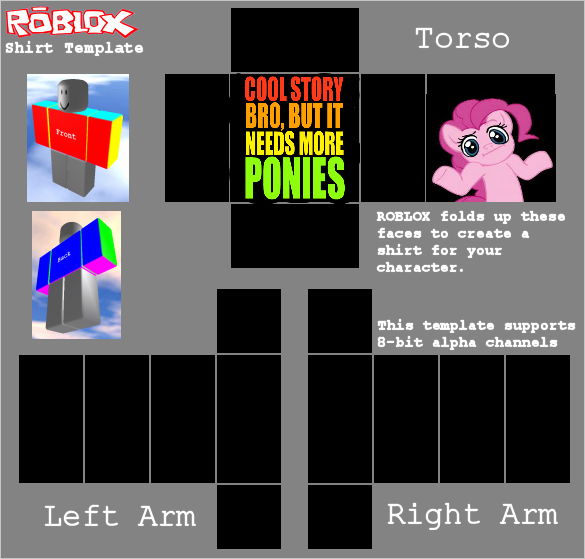 Roblox Template Hoodie Best Of Cool Story Bro but It Needs More Ponies by ashpokeman On