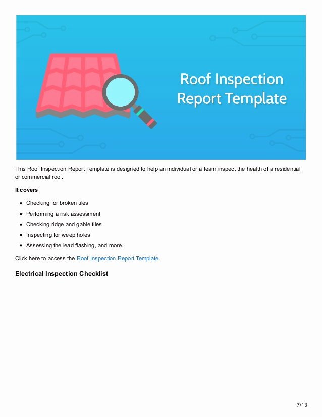 Roof Inspection Report Sample Best Of 12 Inspection Checklists to Maximize Safety In the Workplace