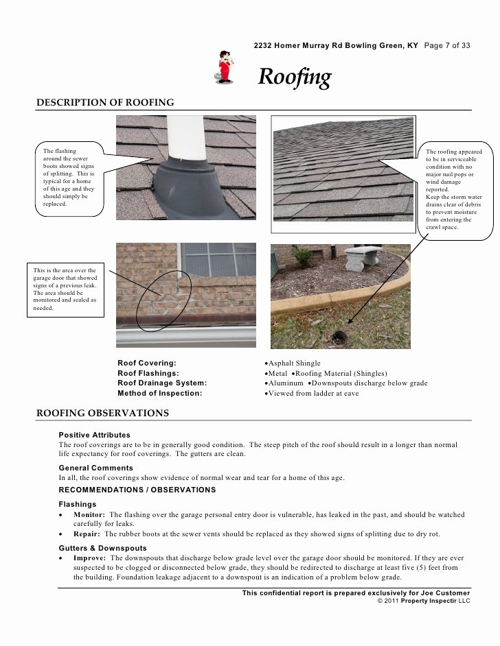 Roof Inspection Report Sample Inspirational Roof Report & Roof Inspection Report Template 46 with Roof