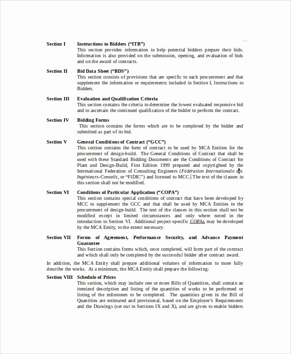 Roofing Bid Proposal Template Lovely 11 Bid Proposal Samples