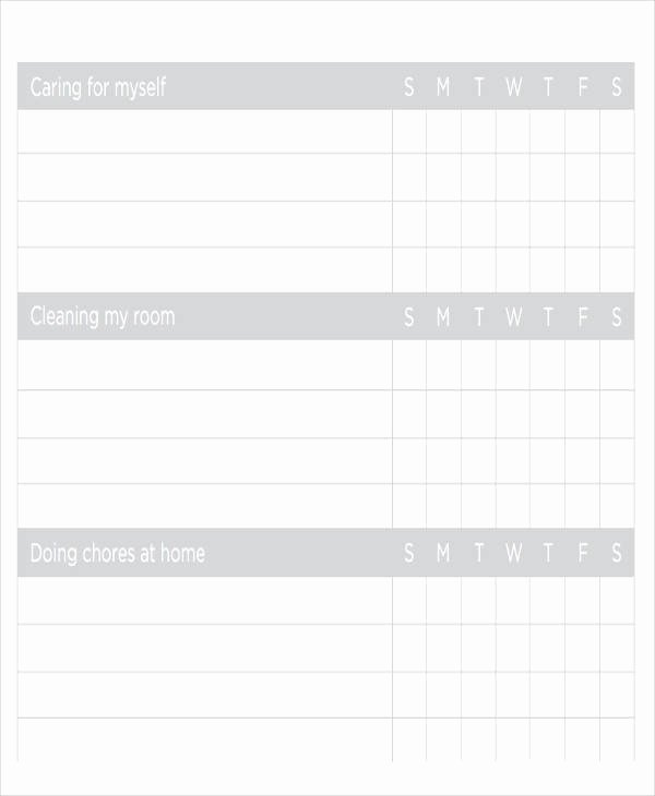 Roommate Chore Chart Template Fresh 39 Free Charts