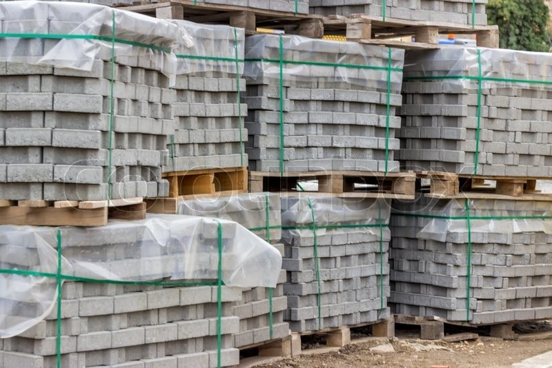 Roomstore Credit Card Log In Beautiful Stacks Of Concrete Pavers On Wooden Pallets On Road