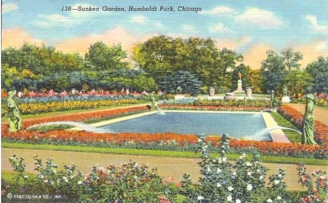Roomstore Credit Card Log In Fresh Postcard – Chicago – Humboldt Park – Sunken Garden – Nice