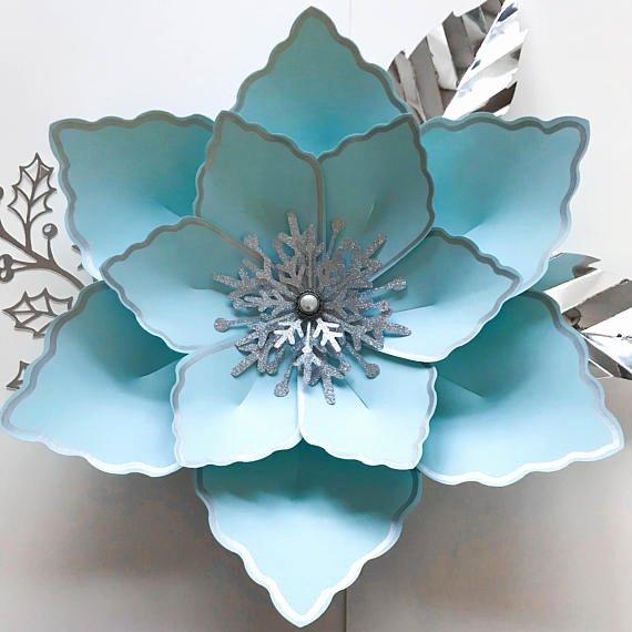 Rose Petal Svg Elegant Svg Petal 12 Paper Flower Template Digital Version the