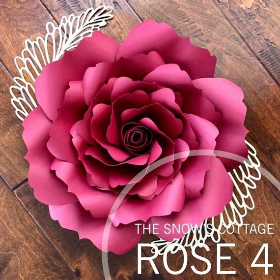 Rose Petal Svg Fresh Instant Download Rose 4 Svg Paper Flower Rose Petal