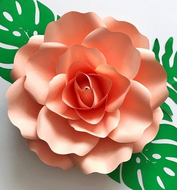 Rose Petal Svg Inspirational Paper Flowers Svg Medium Rose 8 5x11 Inches Petal Template