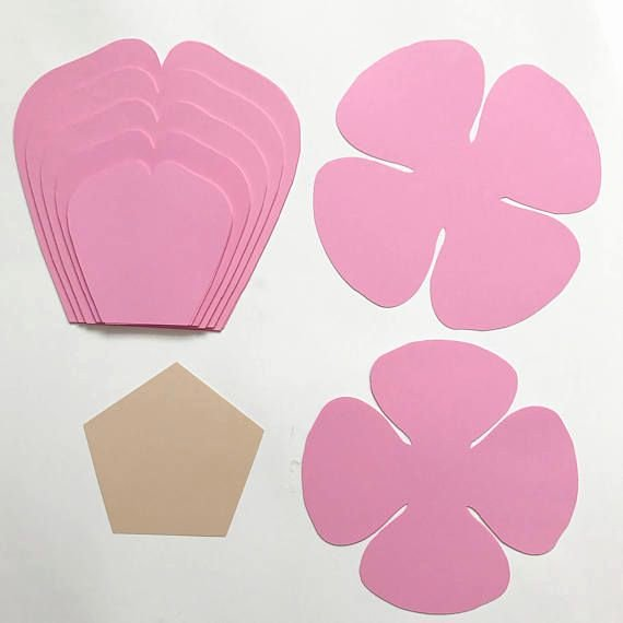 Rose Petal Svg Unique Paper Flowers Svg Petal 81 Paper Flower Template with