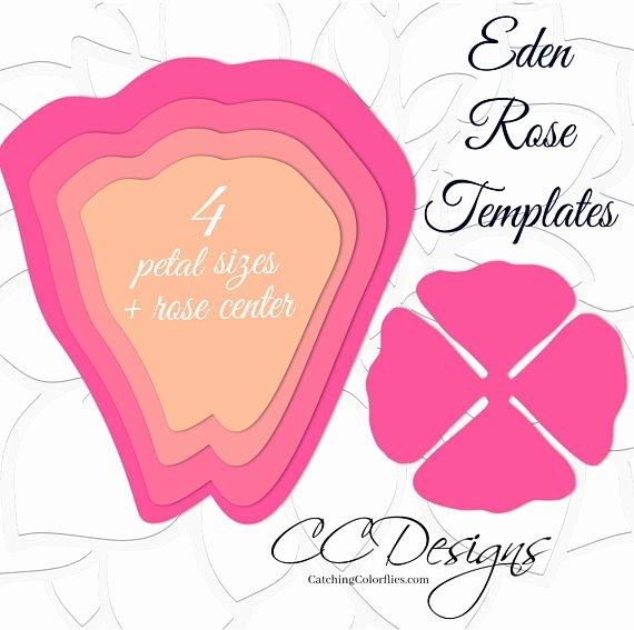 Rose Petal Template Beautiful Giant Paper Rose Templates Easy Printable Pdf Rose Template