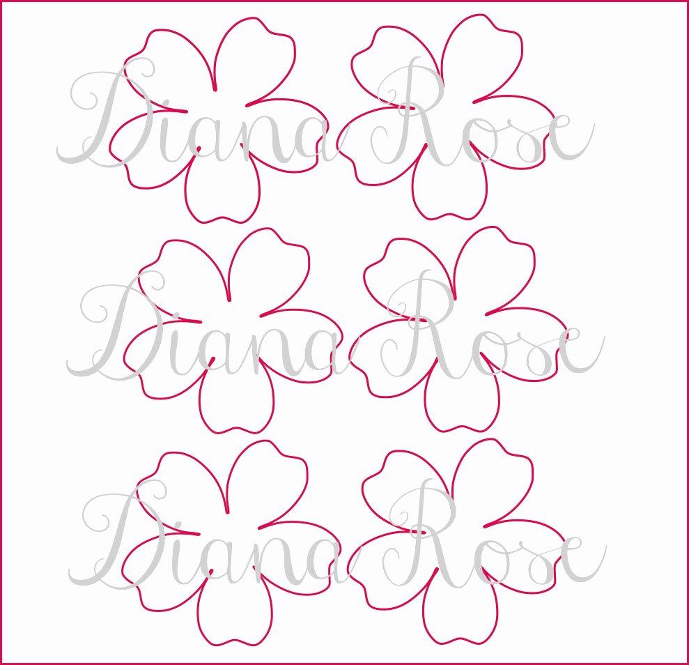 Rose Petal Template Unique Printable Paper Rose Templates Diy Paper Flowers Printable