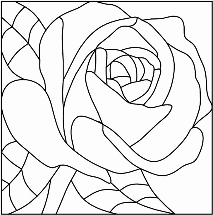 Rose Template Printable Best Of 45 Simple Stained Glass Patterns