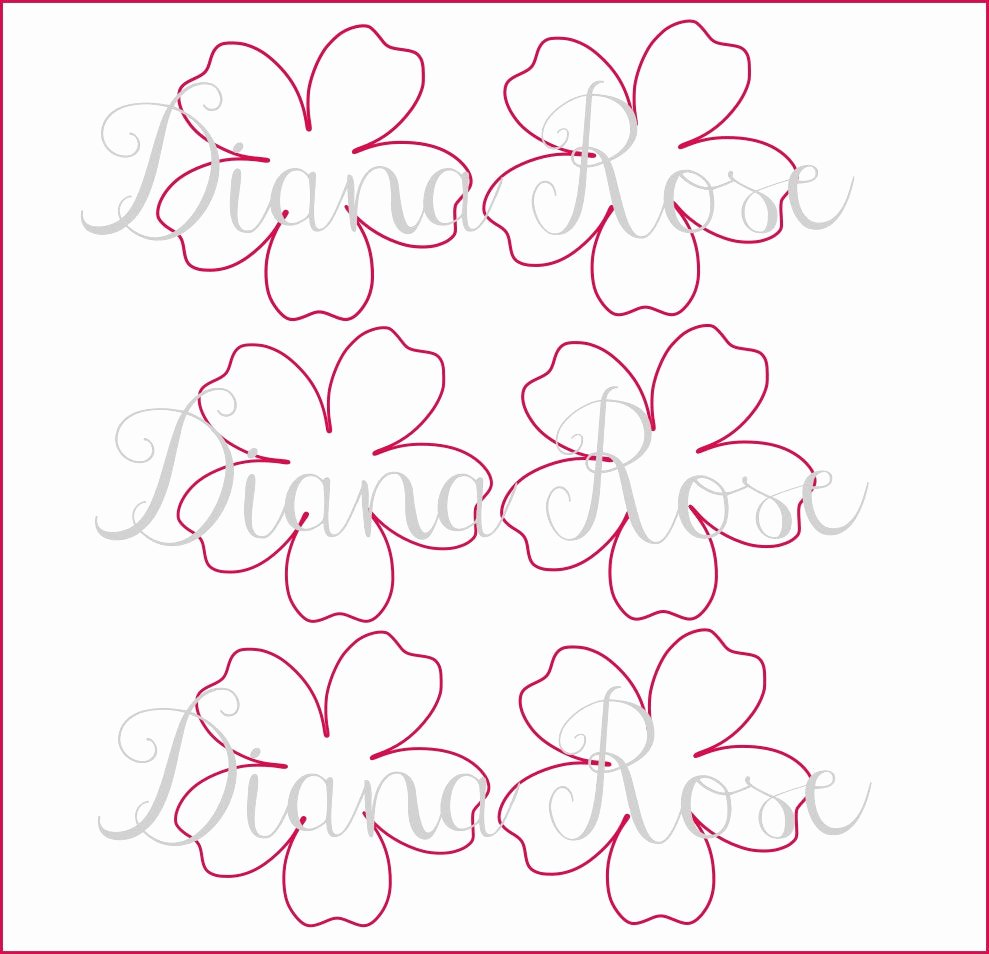 Rose Template Printable Best Of Printable Paper Rose Templates Diy Paper Flowers Printable