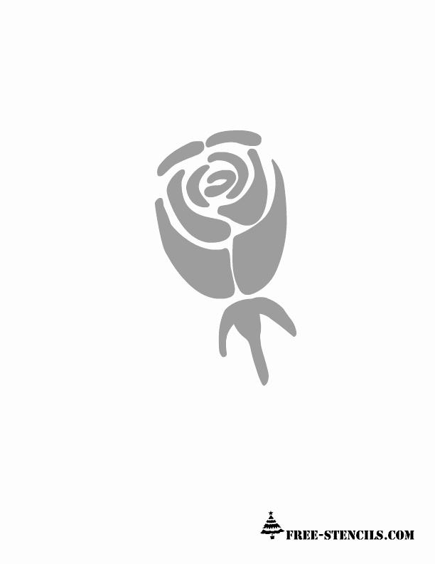 Rose Template Printable Elegant Free Printable Flower Stencil 612×792 Pixels