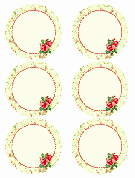 Rose Template Printable Elegant Free Vintage Rose Label Printables by Rachel Birdsell