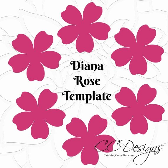 Rose Template Printable Inspirational Printable Paper Rose Templates Diy Paper Flowers Printable