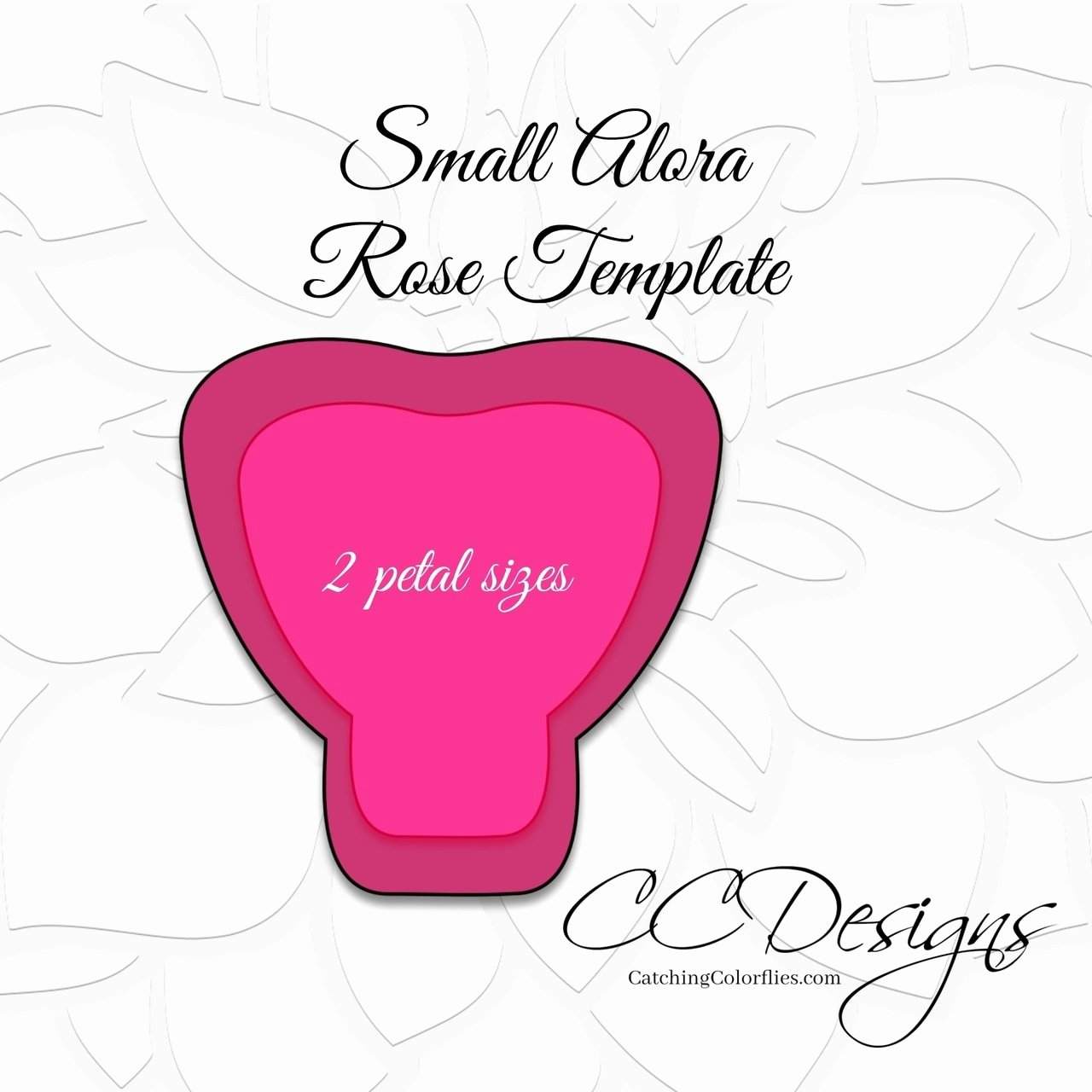 Rose Template Printable Lovely Small Alora Paper Rose Template Catching Colorlfies