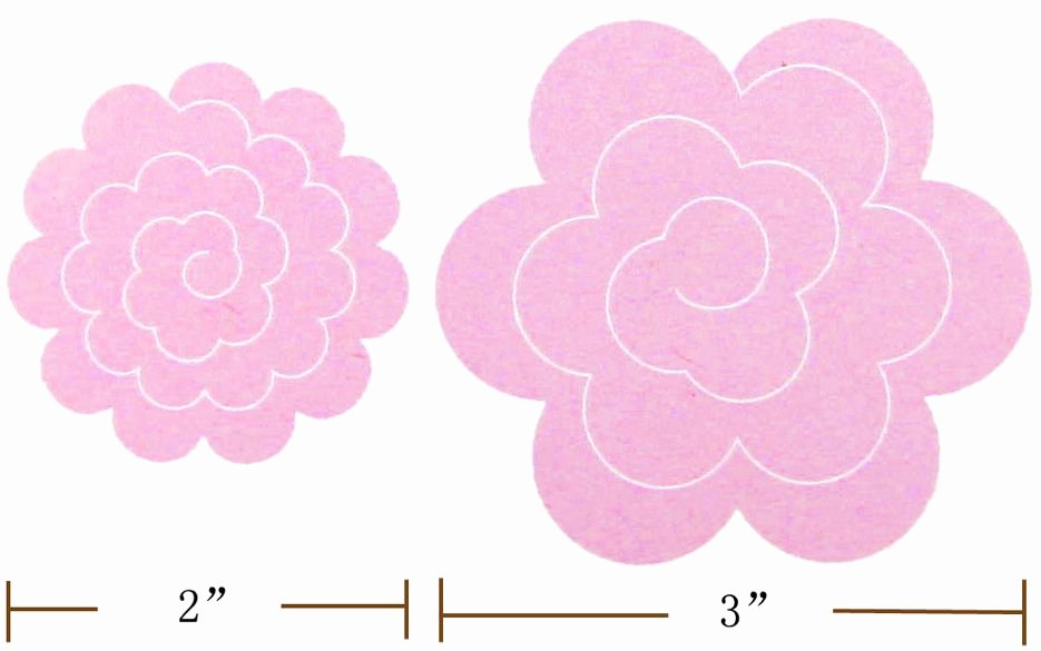 Rose Template Printable New Felt Rose Templates