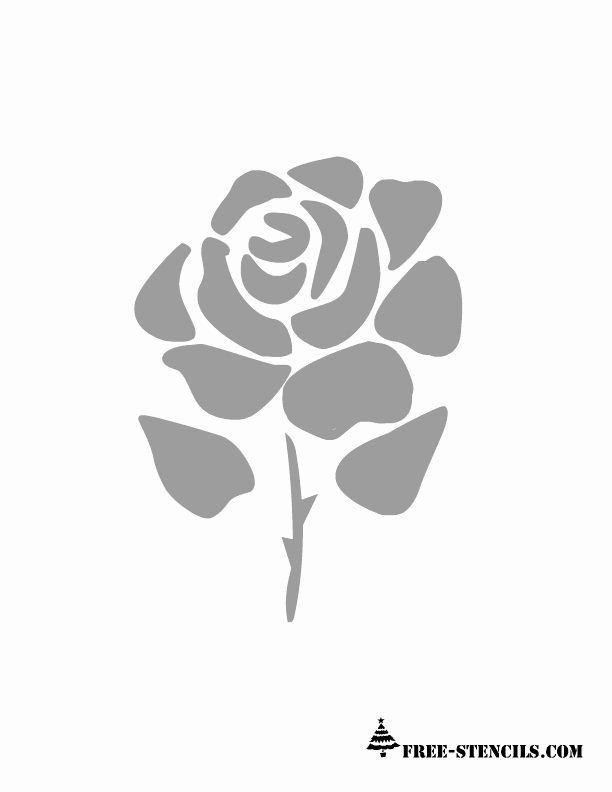 Rose Template Printable Unique Free Printable Rose Stencils