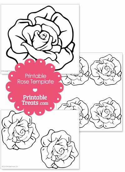 Rose Template Printable Unique Printable Rose Shape Template — Printable Treats