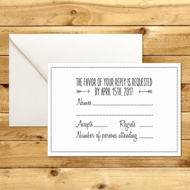 Rsvp Cards Templates Free Awesome Printable Wedding Rsvp Response Card Template Dark