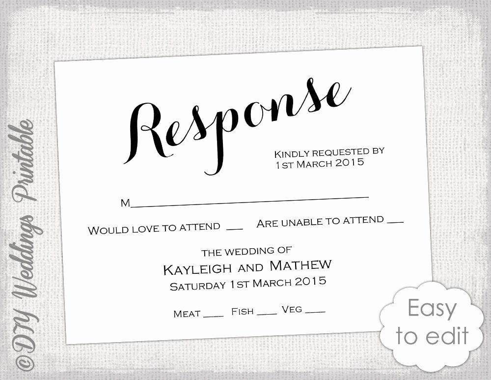 Rsvp Cards Templates Free Awesome Rsvp Template Diy Calligraphy Carolyna Printable