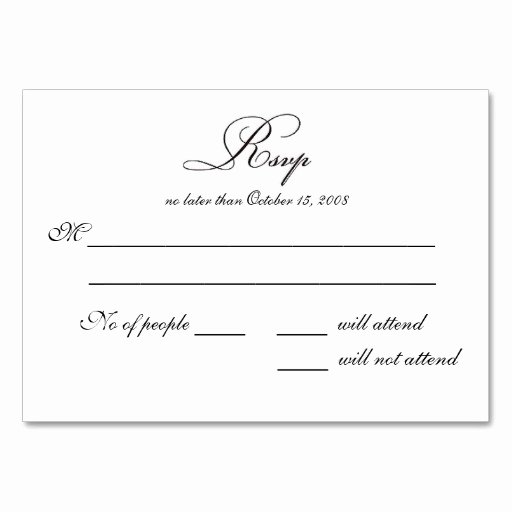 Rsvp Cards Templates Free Elegant Free Printable Wedding Rsvp Card Templates